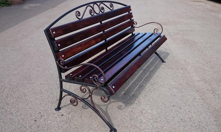 садовая скамейка из профильной трубы своими руками